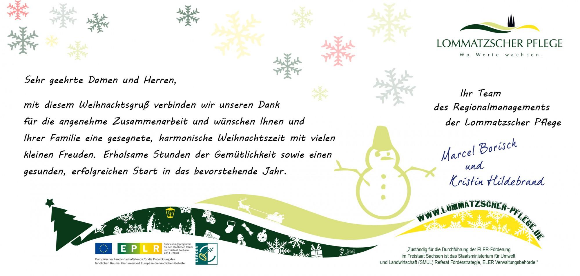 Frohe weihnachten einen guten rutsch lommatzscher pflege - Bilder weihnachtspost ...